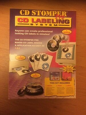 CD Stomper Pro CD-R Labelling System New Unopened