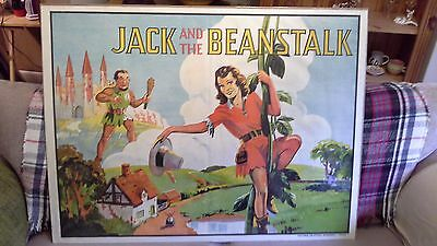 1930s original pantomime poster, jack and the beanstalk
