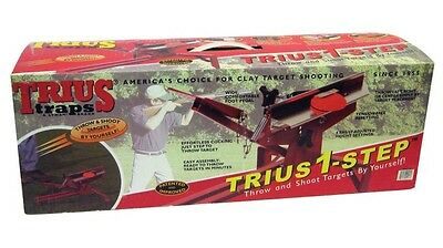 New! Trius St2 1 Step Target Fully Adjustable Portable Trap Skeet Shooter 10201
