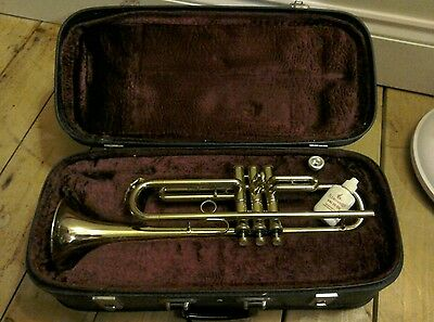 B&H Lafleur trumpet in case with book