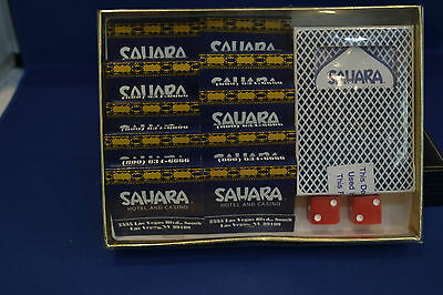 Sahara Hotel Casino Presentation Pack of Red Dice Playing Cards10 Books Match's