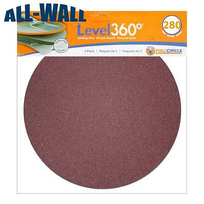 "Radius 360 Drywall Sanding Discs, 9"" 280-Grit (5 Pack) Fits PC 7800 *NEW*"