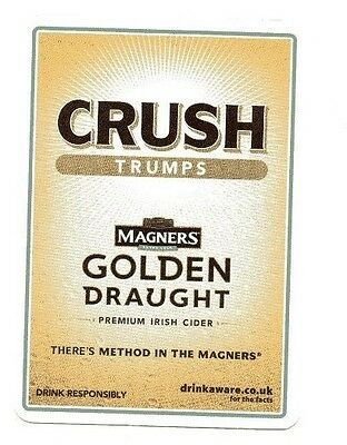 Playing card - Magners Golden  Draught Cyder , Crush Trumps Game Card