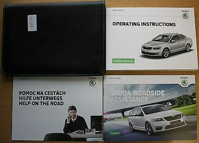 Genuine Skoda Octavia Iii Handbook Manual Wallet Navi 2012-2016 Pack 10755