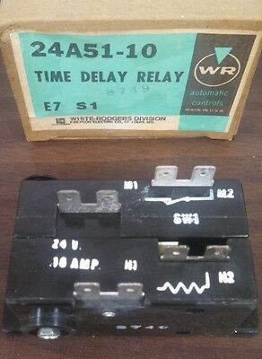 White Rodgers Time Delay Relay 24A51-10    New