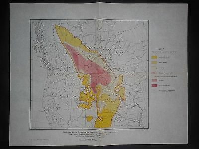 Canada United States Upper Cretaceous 1919 Map Geological Survey