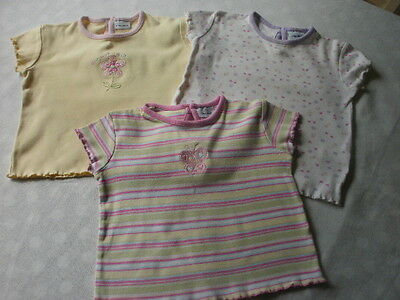 Girls 3 Cherokee pretty T shirts age 9 - 12 months