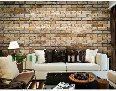* Modern Style Retro Brick Pattern TV Background Living Room Bedroom WallPaper