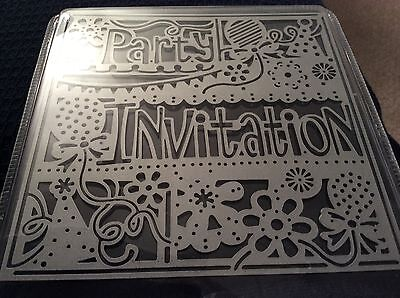 Create A Card die Crafters Companion - Party Invitation