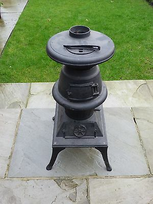 cast iron pot belly wood burner never used
