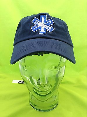 NEW Embroidered Star Of Life Medical Firefighter Fire Rescue Navy Blue Hat Cap
