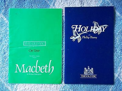 MACBETH: 1980's & HOLIDAY: The Old Vic 1986 Peter O'Toole Programme THEATRE