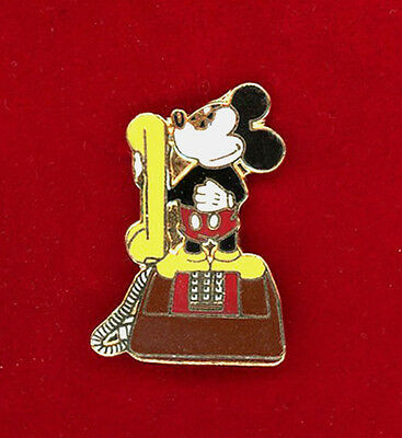 Mickey Mouse Telephone Vintage 1970'z Pin -Rare Mint
