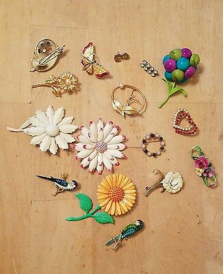 Lot of 16 Vintage Jewelry Brooch Pins