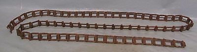 Vintage Industrial Machine Age Square Chain  Steampunk Altered Art Lamp Part