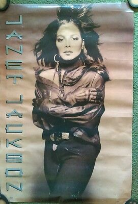 """Poster 35"""" x 23"""" JANET JACKSON. # 8071 see pics for wear / condition"""