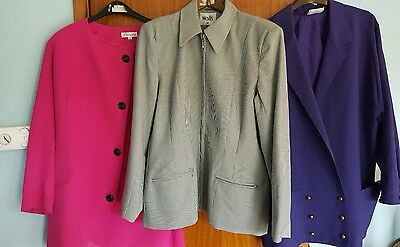 Job lot of vintage 1970s/1980s clothes- incl a leather jacket and velvet dress