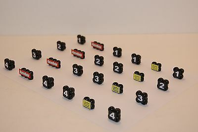 Ho Scale Slot Car Scenery / RACEWAY CORNER MARKERS 24 PIECE SET  for AFX,TYCO
