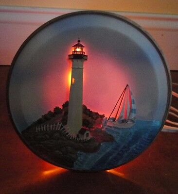 VTG Donna Elias Great American Lighthouses Night Light Lamp Cape May, NJ