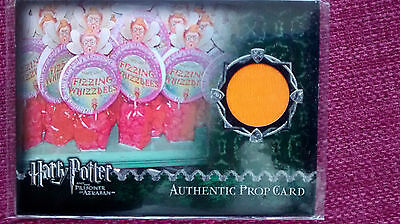 harry potter POA AZKABAN PROP CARD FIZZING WHIZZBEES CARD BRIGHT ORANGE