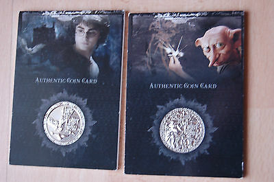 harry potter SILVER COIN CARDS CC1 & CC2
