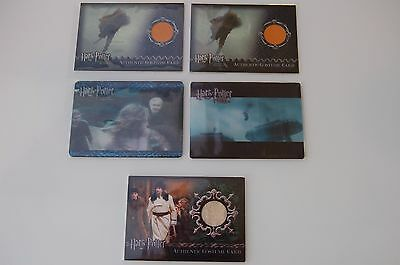 5x HARRY POTTER COSTUME & LENTICULAR CASE LOADER CARDS