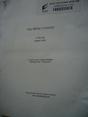 THE WHITE COUNTESS JAMES IVORY RALPH FIENNES 27page PRODUCTION PRESS KIT RELEASE