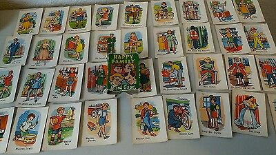1950s Happy Families card game -  great vintage retro art. Game complete.