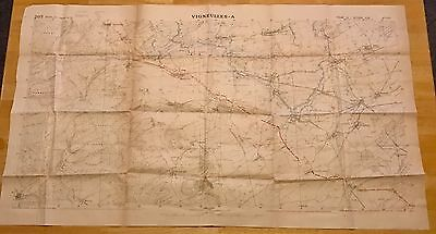 Vineyards- A 203 Shooting Canvas Group Draw Of Oct. 7, 1918 French Trenches
