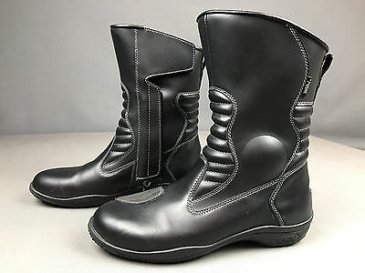 TourMaster Solution Waterproof Motorcycle Biker Road Riding Boots Mens Size 11