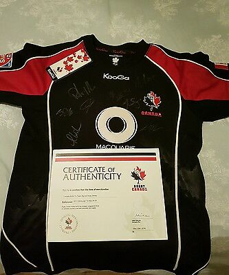 Rugby Canada Signed Shirt with Certificate of Authenticity