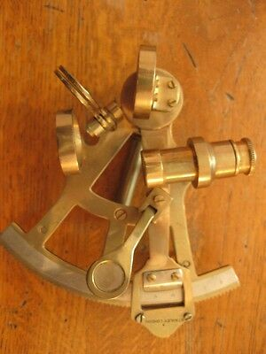 Collectible Vintage Brass Marine Sextant - Stanley of London