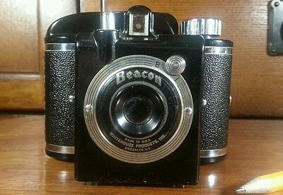Beacon Camera by Whitehouse Brooklyn NYC 1946 Bakelite Streamlined Machine Age