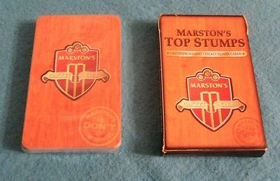 Marston's Brewery Playing Cards,  Pack .   Top Stumps , Cricket Player Cards