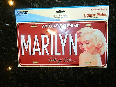 """NEW """"MARILYN MONROE"""" License Plate Collectable in unopened"""