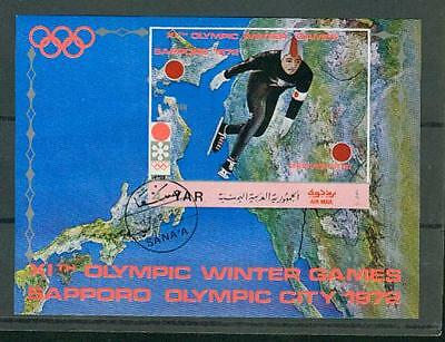 timbres  yemen  bloc  stamps block  yar olympic winter games voir scans