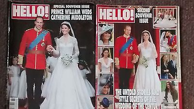2 Part Collectors Edition Hello Magazine Royal Wedding Prince William & Kate