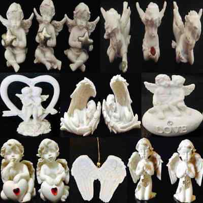 1x Angelic Baby Angel Cherub Heart Moon Ornament Figurine Keepsake Remembrance