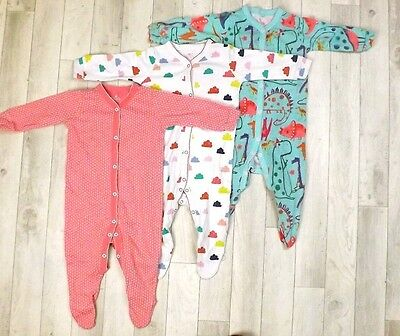 100% NEXT x3 SLEEPSUIT FOR BABY GIRL 6-9 M