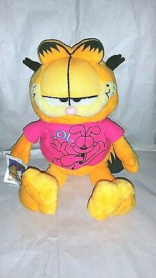 "Garfield Plush 10""  Stuffed Toy Cat Animal Jim Davis Tagged  Vintage Collectable"