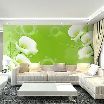 * Modern Simple Style Background Murals Lily 3D Living Room Bedroom WallPaper