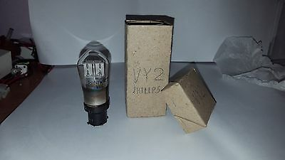 valvola vy2 philips diodo x radio d'epoca, tube diode old NOS