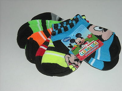 6 Pair Mickey Mouse Clubhouse Child Socks Sock Size 2-4 , Shoe Size 4-7