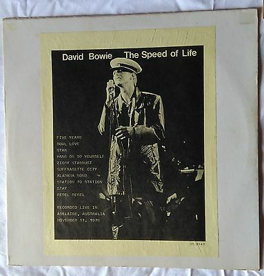 *** David Bowie - The Speed Of Life *** Very Rare Lp
