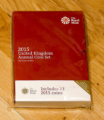 2015 Royal Mint Annual Coin Set BRAND NEW SEALED