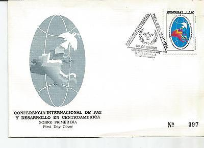 Honduras. Stamp Lot. Sc. C940(1). FDC. Intl. Peace Conference.