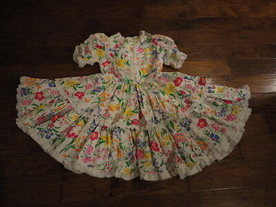 """Square Dance Dress, 21"""" Length, White/Floral/Lace                  -sacurrie1"""