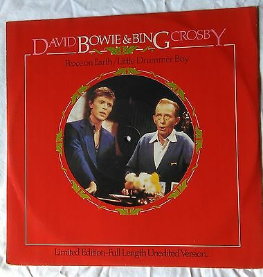 *** David Bowie & Bing Crosby *** Limited Edition 12