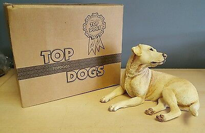 Yellow Labrador Laying Ornament Figurine Figure Dog Gift. Boxed