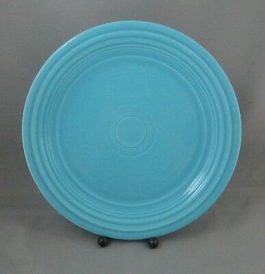 """Vintage FIestaware 9"""" Luncheon Plate in Turquoise Blue Fiesta Ware HLCo #BL4"""
